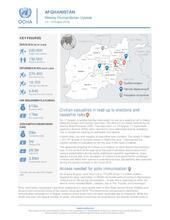 Afghanistan Weekly Humanitarian Update  | 12 - 19 August 2019