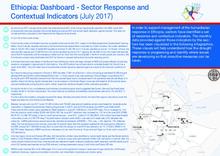 Ethiopia: Dashboard - Sector Response and Contextual Indicators (July 2017)