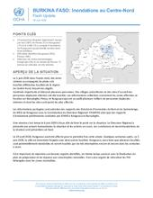BURKINA FASO: Inondations au Centre-Nord, Flash Update, 09 Juin 2020