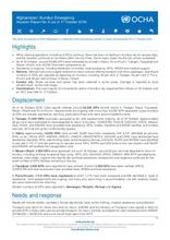 Kunduz Emergency Situation Report No. 6 (as of 17 October 2016)