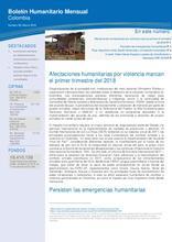 Colombia: Boletín Humanitario Mensual Marzo 2018