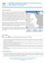 COLOMBIA: Desplazamiento Masivo en los municipios Hacarí y la Playa de Belén (Norte de Santander)