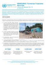 Honduras: Reporte Situacional: Tormentas Tropicales Eta e Iota Informe de Situación No. 10