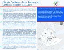 Ethiopia: Dashboard - Sector Response and Contextual Indicators (October 2017)