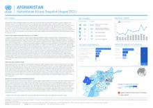 AFGHANISTAN: Humanitarian Access Snapshot (August 2021)