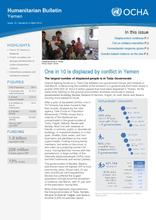 Yemen Humanitarian Bulletin Issue 10 | Issued on 4 April 2016