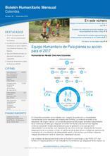 Boletín Humanitario Mensual - Noviembre 2016