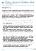 Ethiopia:TIGRAY REGION HUMANITARIAN UPDATE on Situation in Tigray - 1 July 2021 [EN]
