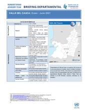 Briefing Departamental, Valle del Cauca | Enero - Junio 2021