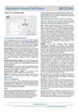 Afghanistan Weekly Field Report | 12 - 18 February 2018