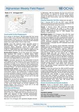 OCHA Afghanistan Weekly Field Report, 14 - 20 August 2017