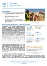Iraq: Humanitarian Bulletin, July 2020 [EN][کوردی][العربية]