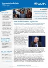 Afghanistan Humanitarian Bulletin Issue 61 | 01 - 28 February 2017