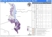 Malawi: Who Does What Where for Food Security Cluster - May 2015