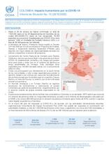 COLOMBIA: informe de situación N° 15 Impacto humanitario por el COVID-19