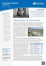OCHA: Humanitarian Bulletin Afghanistan Issue 67 | 1 – 31 August 2017
