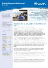 Colombia: Boletín Humanitario Mensual - Número 56 | Revisión 2016 - Enero 2017