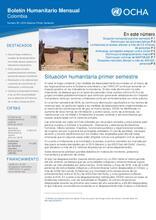 Boletín Humanitario Mensual- Junio 2016