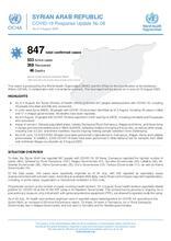 Syria - COVID-19 Response Update No.08