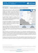 Colombia - Desplazamiento masivo en el municipio de Tumaco (Nariño) Flash Update No. 1