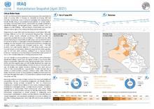 Iraq: Humanitarian Snapshot, April 2021 [EN]