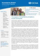 RCA: OCHA Bulletin Humanitaire (sept 2016)