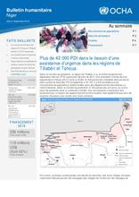 Niger : Bulletin Humanitaire Aouût-Septembre 2018