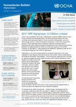 Afghanistan Humanitarian Bulletin Issue 59 | 01 - 31 December 2016