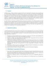 Rapport Mission d'appui OCHA au Centre (Guéra et Batha) et dans le Salamat du 15 au 21 sept 2019