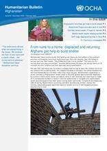 Afghanistan Humanitarian Bulletin | Issue 84 | December 2020 - February 2021