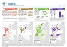 Impacto humanitario en Colombia de enero a junio 2020