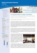 Colombia: Boletín Humanitario Mensual Agosto 2018