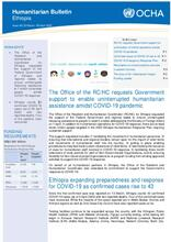 Ethiopia Bi-Weekly Humanitarian Bulletin, 23 Mar - 05 APR 2020 [EN]