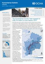 Humanitarian Bulletin: Ukraine | Issue 15 | 1 October - 31 December 2016 [EN/RU/UK]