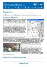 RD Congo - Sud-Kivu et Maniema : Note d'informations humanitaires du 12 novembre 2018