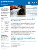 Burundi - Bulletin Humanitaire aout 2018