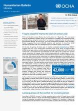Ukraine: Humanitarian Bulletin | Issue 21| 1 – 31 August 2017 [EN/UA/RU]