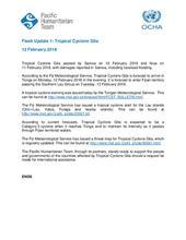 Flash Update 1: Tropical Cyclone Gita - 12 February 2018