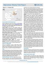 Afghanistan Weekly Field Report | 5 - 11 February 2018