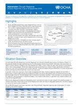 Afghanistan: Drought Response, Situation Report No. 2 (as of 16 September 2018)