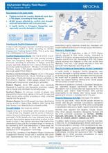 Afghanistan Weekly Field Report   10 -16 September 2018