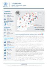 Afghanistan Weekly Humanitarian Update  | 12 – 18 July 2021
