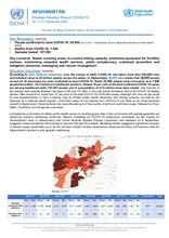 Afghanistan Flash Update | COVID-19 | Strategic Situation Report No. 77 | 17 September 2020