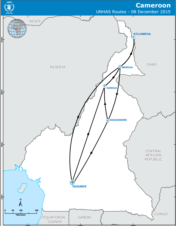 unhas cameroon route map