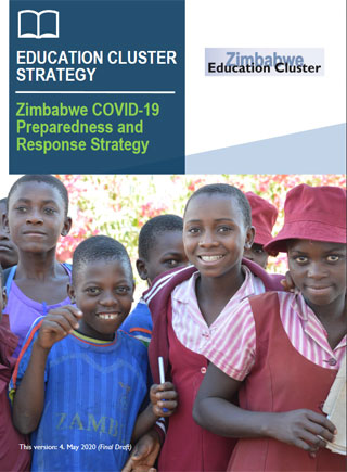 Frontpage of the Zimbabwe: Education Cluster COVID-19 Preparedness and Response Strategy